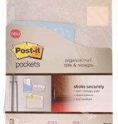 Self-Stick Removable File Pockets, Assorted, 9 x 12, 3/Pack