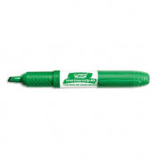 Great Erase Grip Dry Erase Markers, Chisel Tip, Green, Dozen