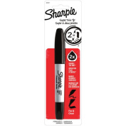 Sharpie Super Twin Tip Permanent Marker with Fine Point and Chisel Tip, Black