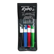 Low Odor Dry Erase Marker, Fine Point, Assorted, 4/Set