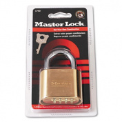 "Resettable Combination Padlock, 2"" wide, Brass"