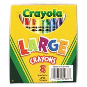 Large Crayons, Lift Lid Box, 8 Colors/Box