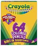 Colored Woodcase Pencil, HB, 3.3 mm, Assorted, 64/Pack