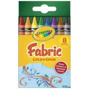 Crayola Fabric Crayons 8 Colours Box