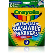 . Broad Line Washable Markers-Classic Colours 8/Pkg