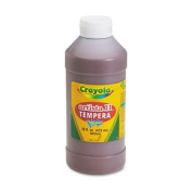 Crayola Artista II Tempera Paint, 470ml Bottle, Brown; no. BIN311507