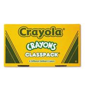 Classpack Regular Crayons, 50 Each of 8 Colors, 400/Box