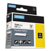 Rhino Flexible Nylon Industrial Label Tape Cassette, 1/2in x 11-1/2 ft, White