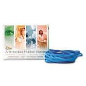 Alliance Latex-Free Antimicrobial Cyan Blue Rubber Bands, Size #117B, 18cm x 0.3cm , 0.1kg Box