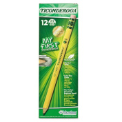 My First Ticonderoga Woodcase Pencil, HB #2, Yellow Barrel, 1 Dozen