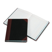 Record/Account Book, Journal Rule, Black/Red, 300 Pages, 9 5/8 x 7 5/8