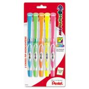 24/7 Highlighter, Chisel Tip, Blue/Green/Orange/Pink/Yellow Ink, 5/Set