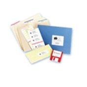 Laser/Inkjet Mailing Labels, Mini-Sheet, Mini-Sheet, 2 x 4, White, 100/Pack