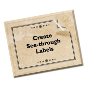 Avery 8665 Ink Jet Address Labels 8-1/2 x 11 Clear 25 Pack