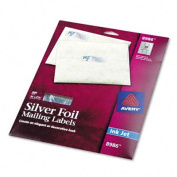 Foil Mailing Labels, 3/4 x 2-1/4, Silver, 300/Pack