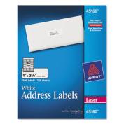 Address Labels, 1 x 2-5/8, White, 7500/Box