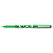 VBall Roller Ball Liquid Ink Stick Pen, Green Ink, .5mm, Dozen
