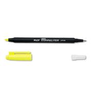 Markliter Black Ballpoint Pen & Fluorescent Yellow Chisel-Tip Highlighter