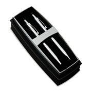 Classic Century Ballpoint Pen & Pencil Set, Chrome/Black Accent