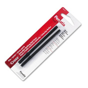 Refill for Roller Ball Pens, Medium, Black Ink, 2/Pack