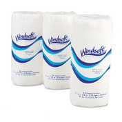 Windsoft 122085CT Perforated Paper Towel Rolls 8-7/8 x 11 White 85/roll 30/carton