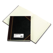 Texhide Series Account Book, Black/Burgundy, 300 Green Pages, 14 1/4 x 8 3/4