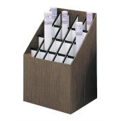 Corrugated Roll Files, 20 Compartments, 15w x 12d x 22h, Woodgrain