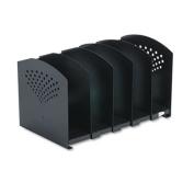 Safco 3116BL Black Five Section Adjustable Bookrack