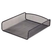 Desk Tray, Three Tiers, Steel Mesh, Letter, Black