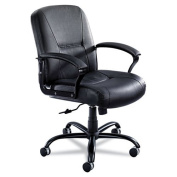 Safco 3501BL Serenity Mid Back Big and Tall in Black Leather