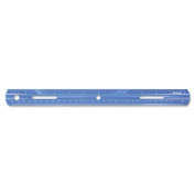 """Plastic English and Metric School Ruler, 12"""", Assorted Colors"""