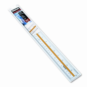 """Acrylic Data Highlight Reading Ruler With Tinted Guide, 15"""" Clear"""