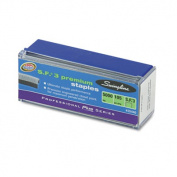 S.F. 3 Premium Chisel Point 105 Count Half Strip Staples, 5,000/Box