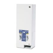 Dual Sanitary Napkin/Tampon Dispenser, Coin-Op, Metal, 10 x 7 1/4 x 24, White