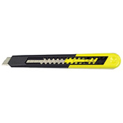 Straight Handle Knife w/Retractable 13 Point Snap-Off Blade, Black/Yellow