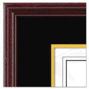 Dax 1511TB Hardwood Document/Certificate Frame with Mat 11 x 14 Black