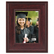 Executive Document/Photo Frame, Desk/Wall Mount, Wood, 5 x 7, Mahogany