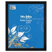 Black Solid Wood Poster Frames w/Plastic Window, Wide Profile, 16 x 20