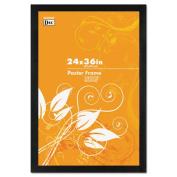 Black Solid Wood Poster Frames w/Plastic Window, Wide Profile, 24 x 36