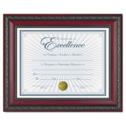 DAX N3245N3T World Class Document Frame w/Certificate- Rosewood- 8 1/2 x 11""