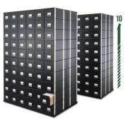 Bankers Box 00511 StaxOnSteel Storage Box Drawer- Letter- Steel Frame- Black- 6/Carton