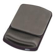 Gel Mouse Pad w/Wrist Rest, Nonskid, 6-1/4 x 10-1/8, Platinum/Graphite