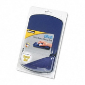 Gel Mouse Pad w/Wrist Rest, 6-1/4 x 10-1/8, Sapphire/Black, Jewel Tones