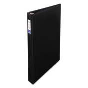 """Legal Four-Ring Heavy-Duty Binder with Round Rings, 1"""" Capacity, Black"""