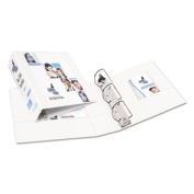 """Durable View Binder with Slant Rings, 3"""" Capacity, White"""