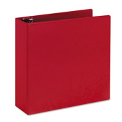 """Durable Binder with Slant Rings, 3"""" Capacity, Red"""