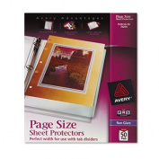 Avery 74204 Top-Load Poly Three-Hole Sheet Protectors- Non-Glare- Letter- 50/Box