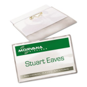 Avery Consumer Products AVE74549 Name Badge Kit- w- Inserts- Side Load- 2-.25in.x3-.50in.- WE