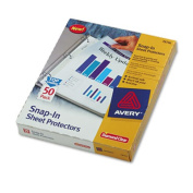 Avery 78706 Special-Use Snap-In Sheet Protectors Letter Diamond Clear 50/box