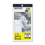 Sales Book, 3-5/8 x 6 3/8, Carbonless Duplicate, 50 Sets/Book